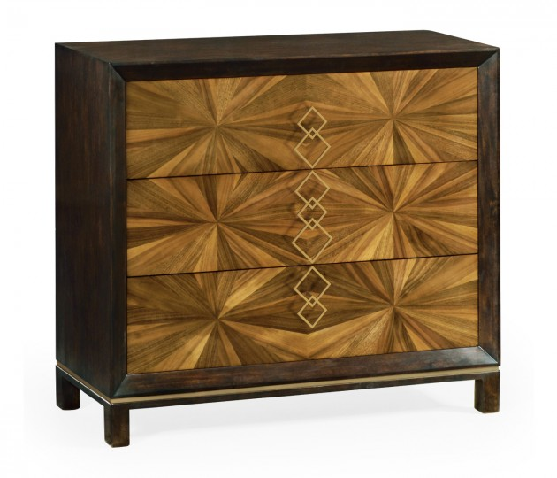 Bookmatched Walnut Chest of Drawers