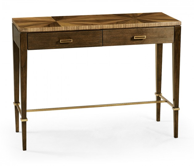 Bookmatched Walnut Console Table