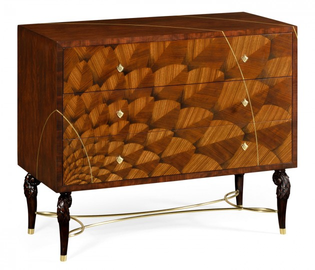 Feather Inlay Chest of Drawers