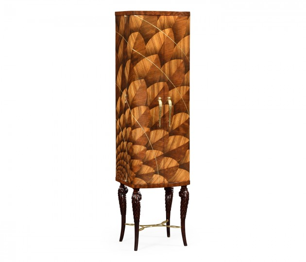 Feather Inlay Drinks Cabinet