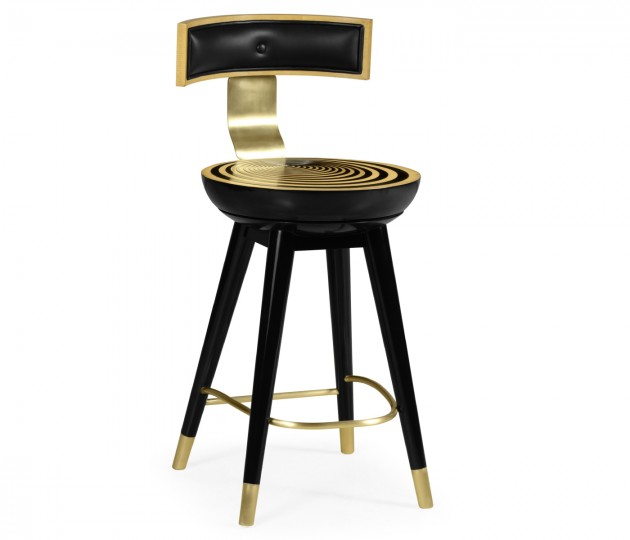 Swivel Counter Stool with Back Support
