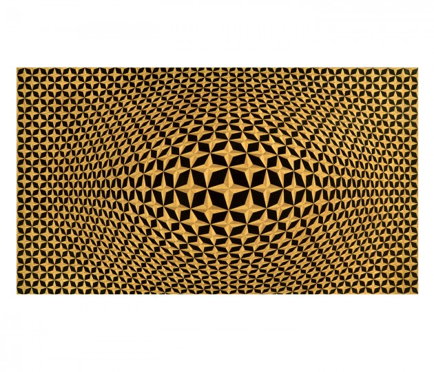3D Four-Point Star Backlit Geometric Wall Panel
