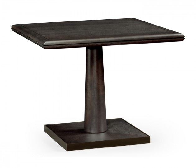 Square Dark Brown Ash Dining Table