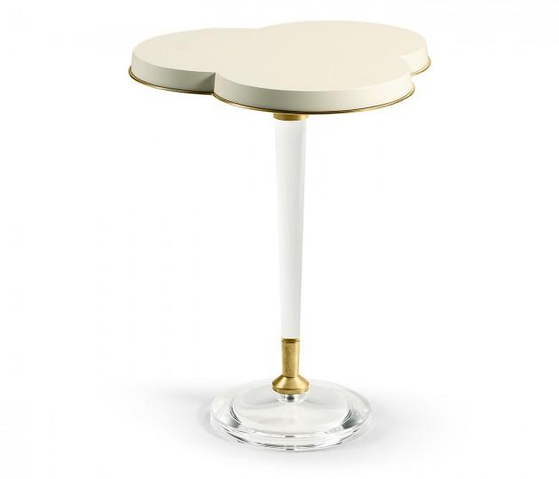 Trefoil Ivory & Acrylic Wine table