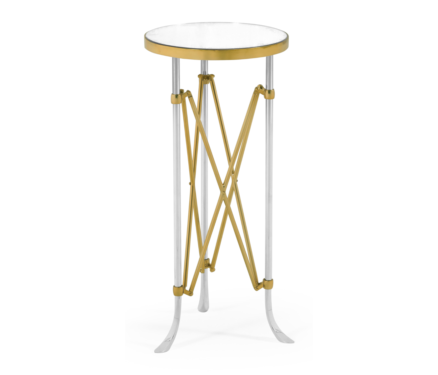 Enjoyable Small Round Antique Satin Gold Brass Antique Glass Vanity Gmtry Best Dining Table And Chair Ideas Images Gmtryco