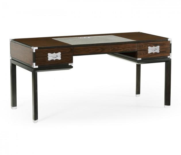 Campaign Style Dark Santos Rosewood Desk