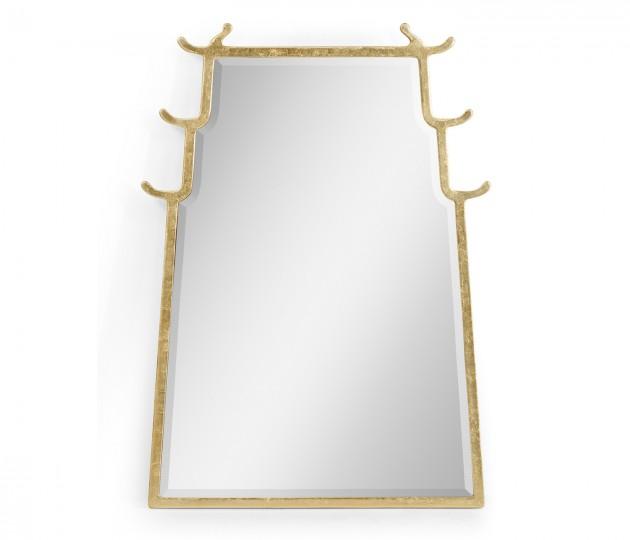 Asian Fusion Dorado Bronze Hanging Mirror