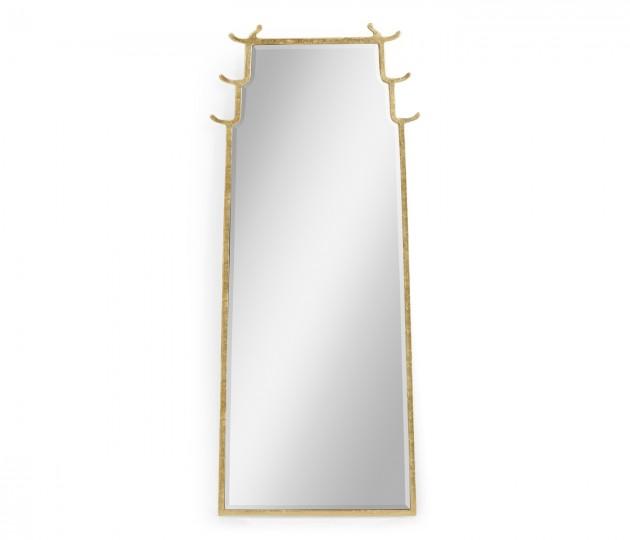 Asian Fusion Dorado Bronze Floor Standing Mirror