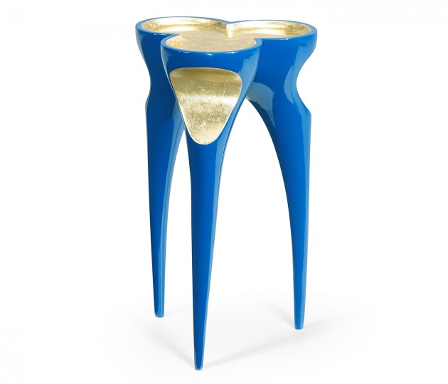 Trefoil Royal Blue & Gold Cut-Out Occasional Table