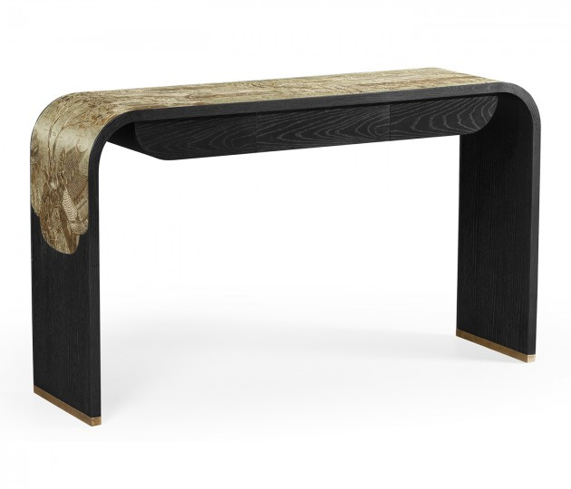Fusion Curved Chinoiserie Console