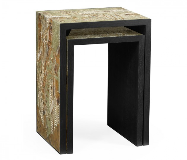 Fusion Chinoiserie Nesting Tables