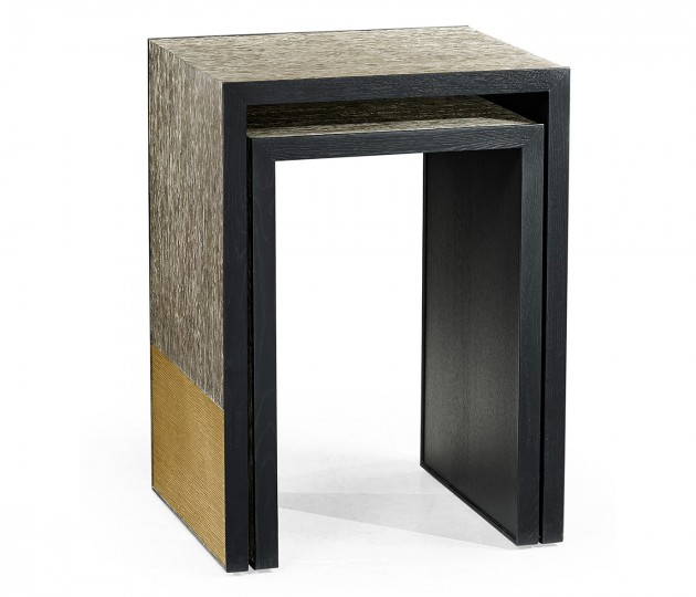 Fusion Etched Brass Nesting Tables