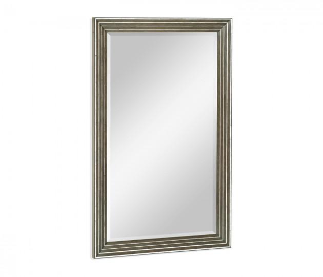 Gatsby Contemporary Dark Grey Walnut & MOP Wall Hanging Mirror