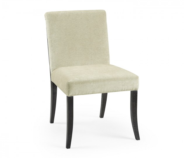 Casual Transitional Black Mocha Oak Dining Side Chair, Upholstered in COM by Distributor