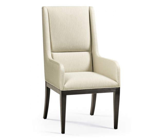 Channel Back Arm Chair, Upholstered in Castaway