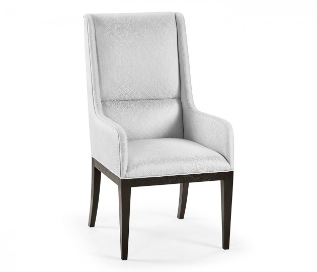 Channel Back Arm Chair, Upholstered in COM