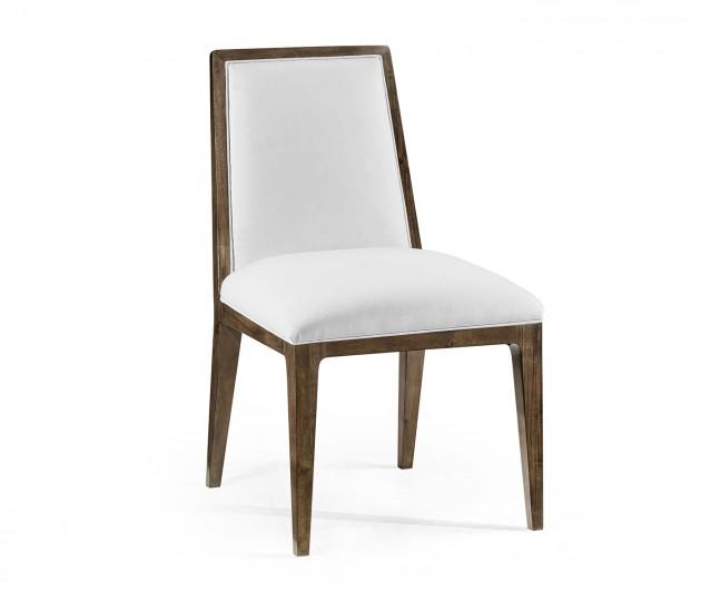 Gatsby Dark Grey Walnut Dining Side Chair, Upholstered in COM by Distributor