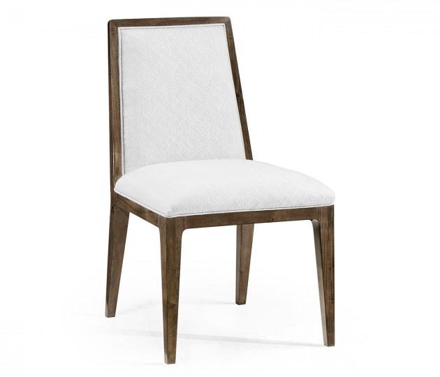 Gatsby Dark Grey Walnut Dining Side Chair, Upholstered in COM