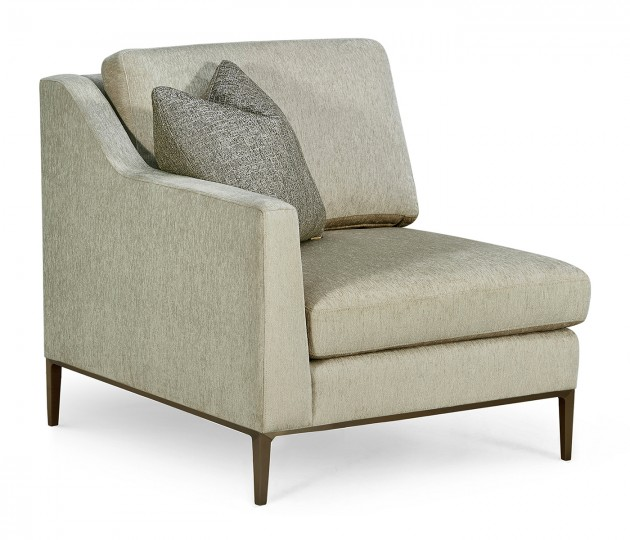 Toulouse Left Arm Lounge Chair, Upholstered in Duchess