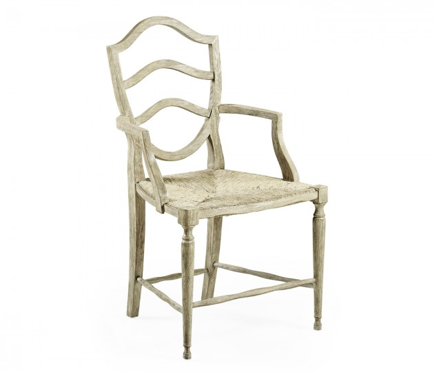 Bodiam Grey Oak Arm Chair