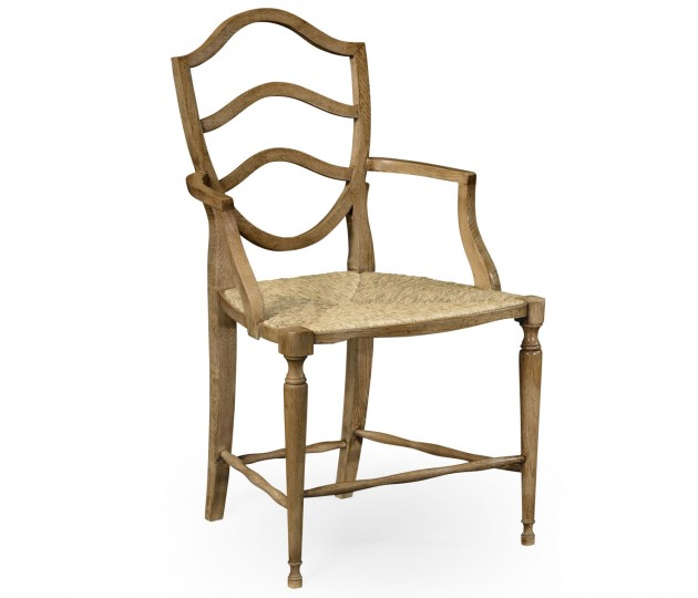 Bodiam Washed Oak Arm Chair
