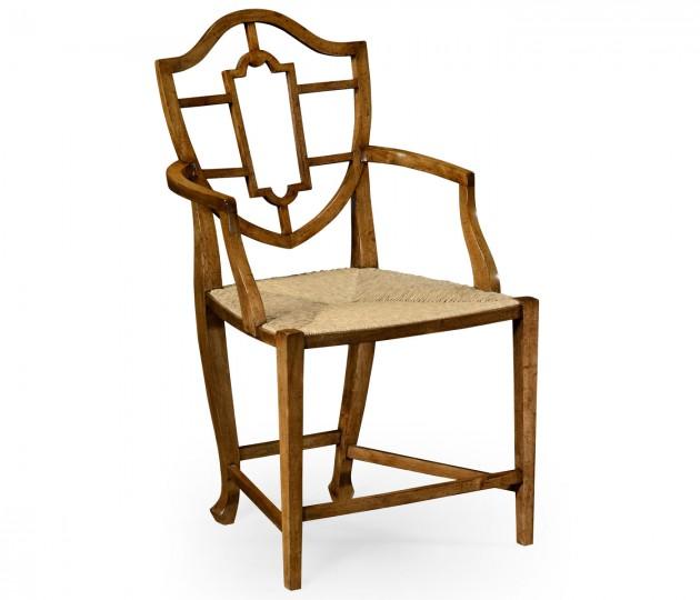 Aveburn Grey Fruitwood Arm Chair