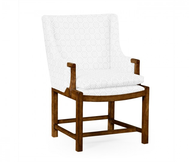 Coniger Grey Fruitwood Occasional Chair, Upholstered in COM