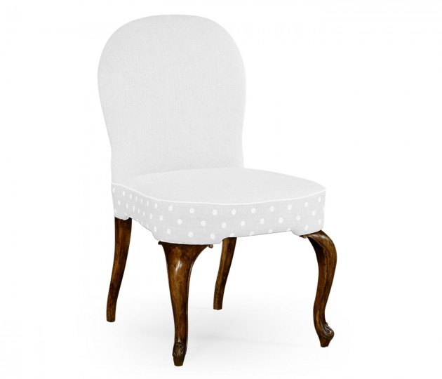 Gunby Grey Fruitwood Dining Side Chair, Upholstered in COM