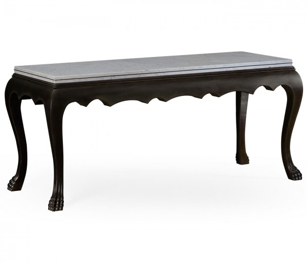 Eden Ebonised Distressed Oak Table