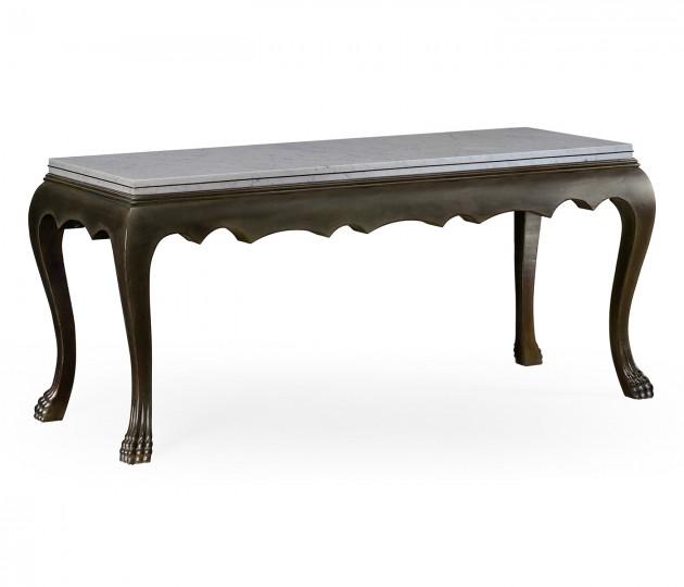 Eden Ebonised Distressed Oak Table