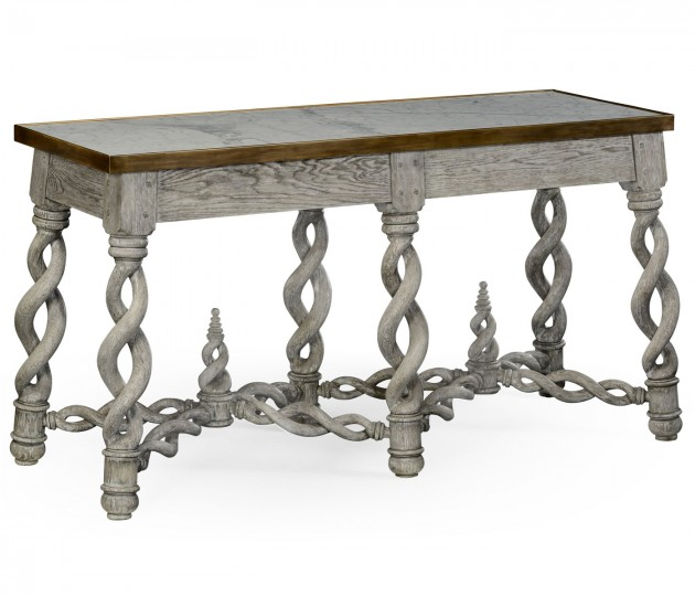 Purbeck Grey Oak Console
