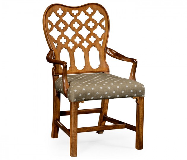 Kingsley Grey Fruitwood Armchair