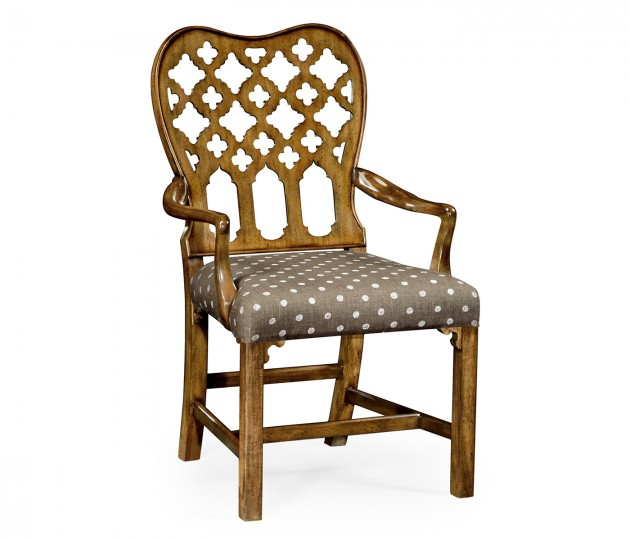 Kingsley Grey Fruitwood Arm Chair