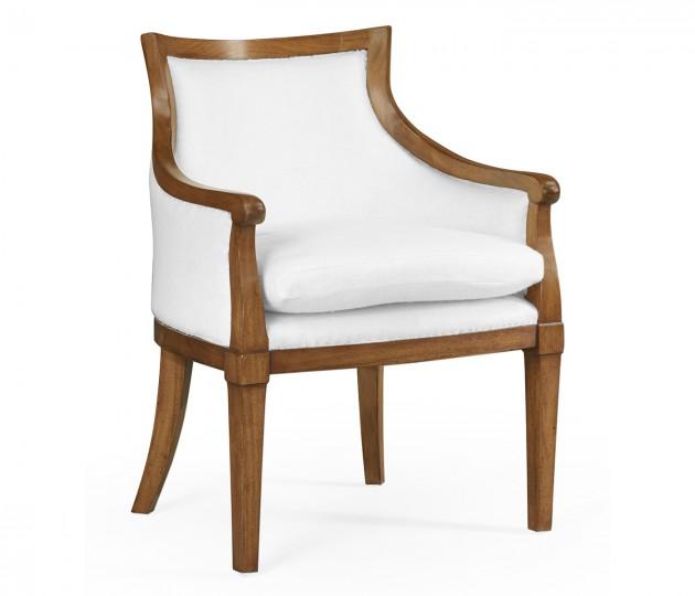 Belton Grey Fruitwood Arm Chair