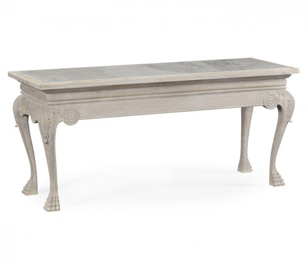 York Venetian White Oak Console