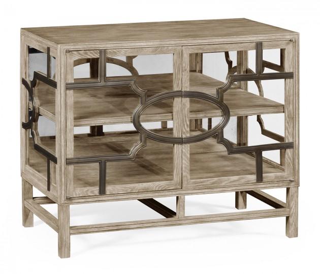 Hewlett Grey Oak Glazed Cabinet