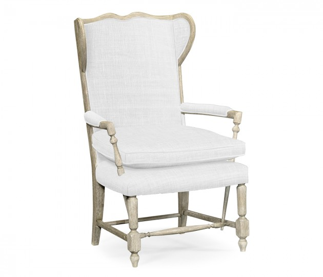 Montbard Grey Oak Chair, Upholstered in COM