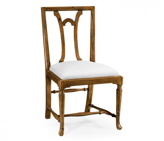 Lewellen Grey Fruitwood Side Chair, Upholstered in COM by Distributor