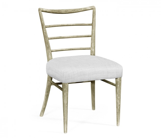 Pensacola Grey Oak Dining Side Chair, Upholstered in COM