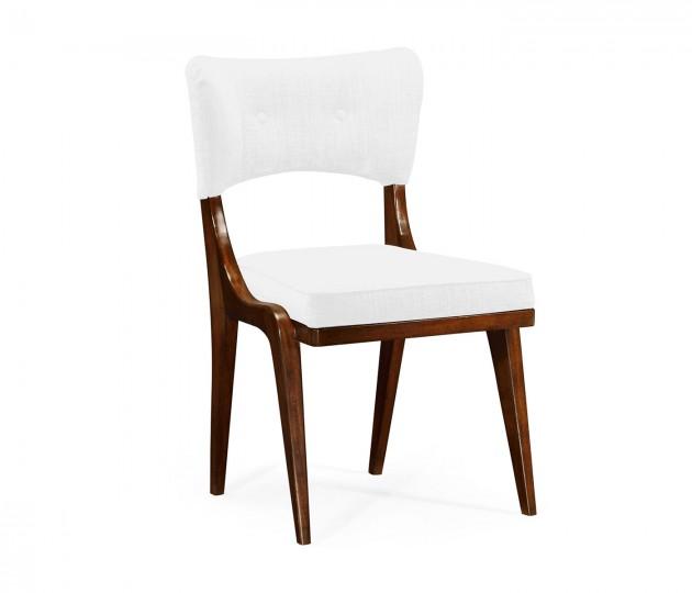 Marlene Dark Walnut Side Chair, Upholstered in COM
