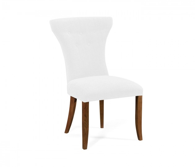 Gibson English Chestnut Side Chair, Upholstered in COM