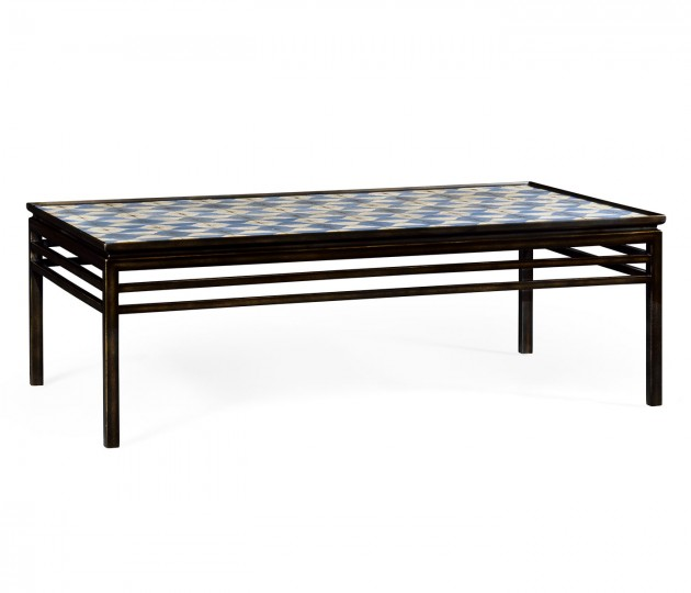 Haygrove White & Blue Marquetry Coffee Table
