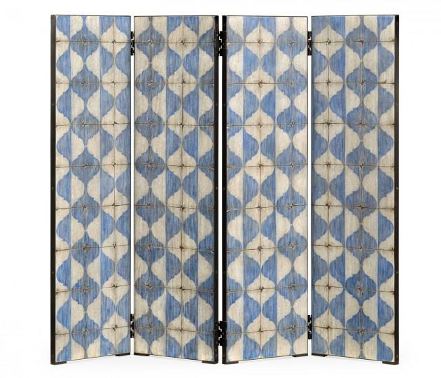 Octavian White & Blue Screen Panels