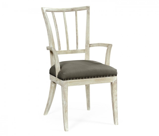 Bywater Washed Acacia Carver Armchair