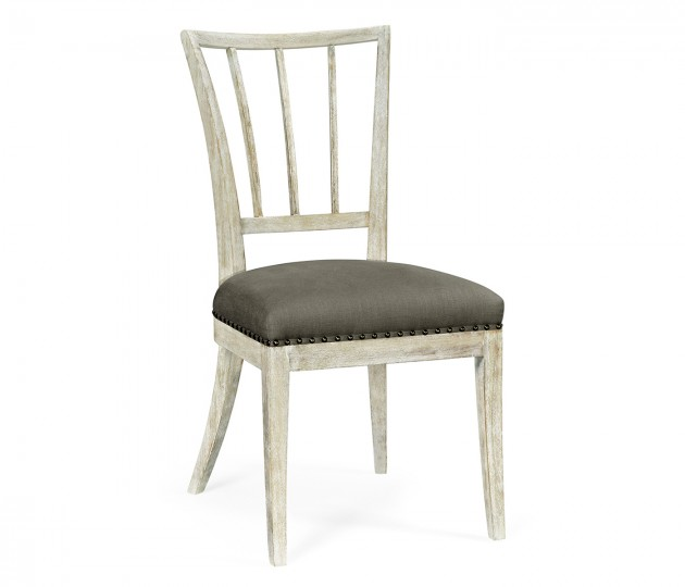 Lucillo Washed Acacia Carver Side Chair
