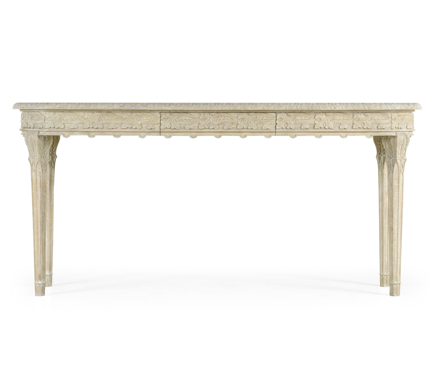 Picture of: Bellefontaine Venetian White Oak Console Table
