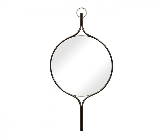 Circular Matthew Faux Bronze Wall Hanging Mirror