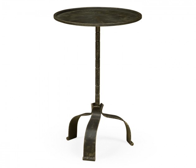 Circular Ida Honey Bronzed Cocktail Table