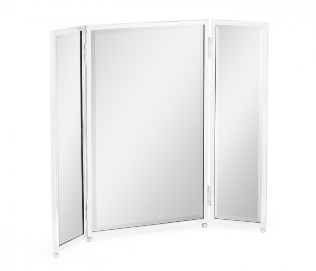 Triple Stainless Steel Dressing Table Mirror