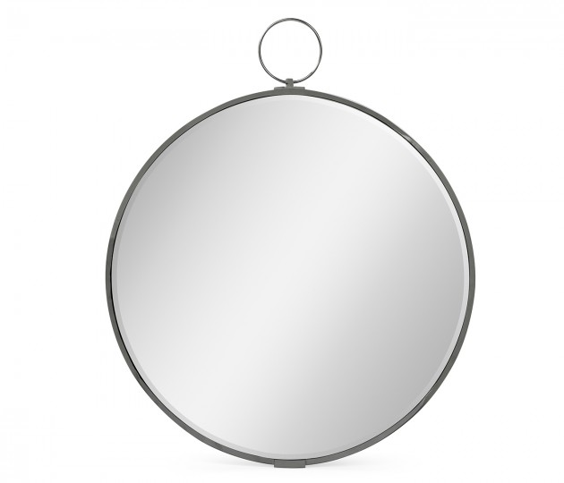 Circular Avalone Bronzed Stainless Steel Wall Hanging Mirror